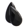 Acrylic 17x9mm Pear Shape Facet Black